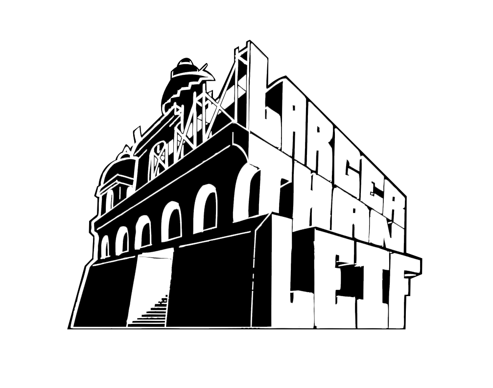 Logo Larger than Leif